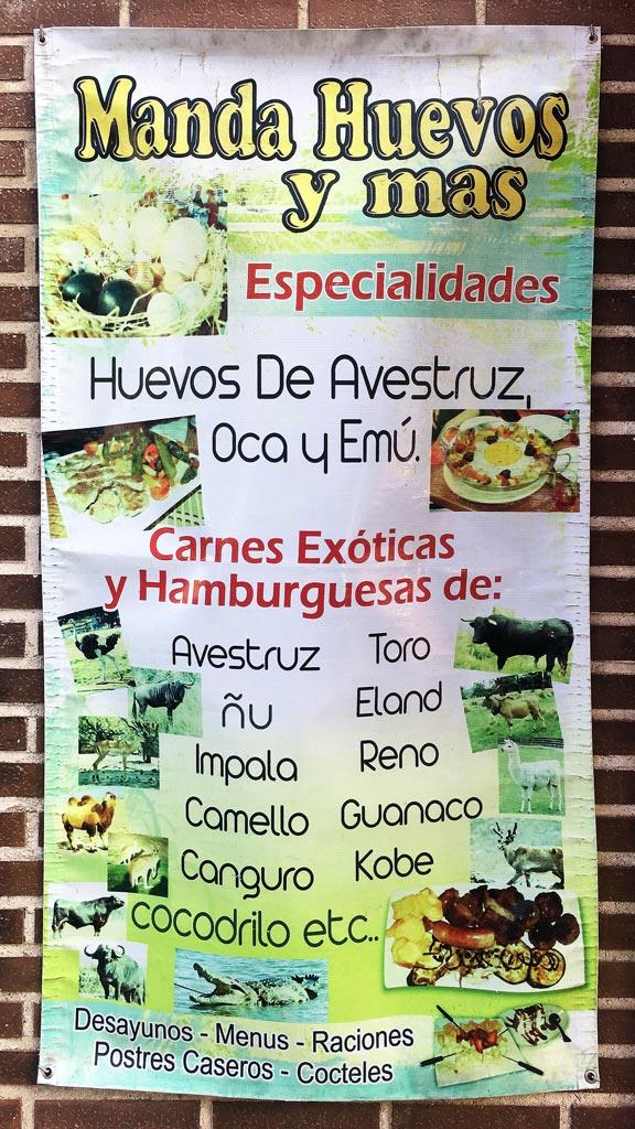 Bar-Macarena-Restaurante-Carnes-Huevos-Exoticos-Vallecas-Cartel